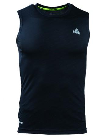 PEAK Pánské sportovní triko bez rukávů - black