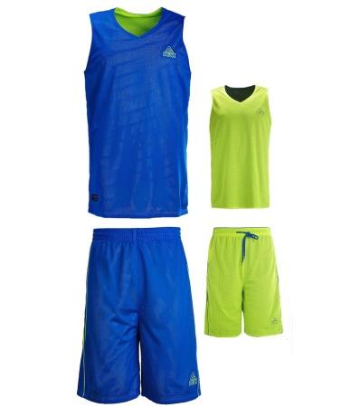 PEAK Reversible Uniform basketbalový oboustranný set - blue/yellow