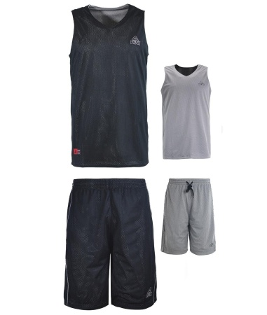 PEAK Reversible Uniform basketbalový oboustranný set - black/grey