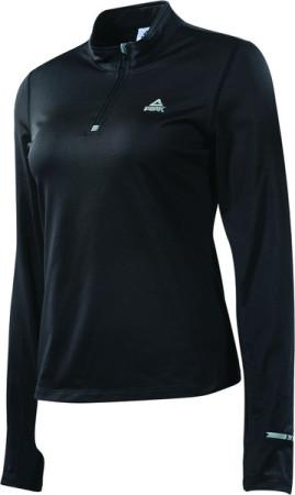 PEAK dámské běžecké tričko dlouhý rukáv - black
