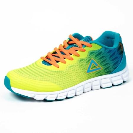 PEAK běžecké boty - fluorescent yellow/blue