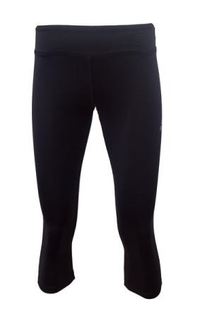 PEAK dámské 3/4 běžecké kalhoty - black