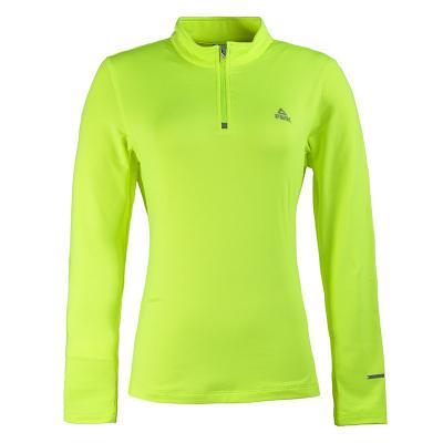 PEAK dámské běžecké tričko dlouhý rukáv - fluorescent green