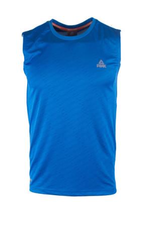 PEAK Pánské sportovní triko bez rukávů - blue