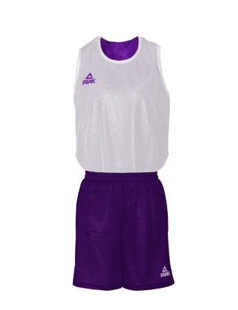 PEAK Reversible Uniform basketbalový oboustranný set -  purple/white