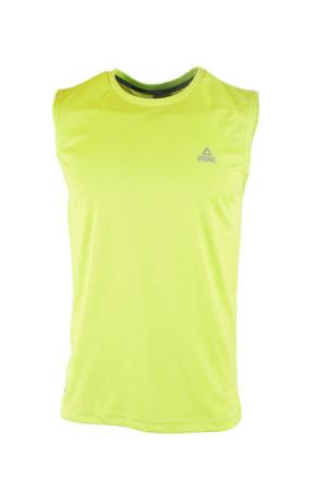 PEAK Pánské sportovní triko bez rukávů - fluorescent green