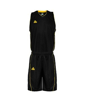 PEAK Basketball Uniform basketbalová souprava - black/yellow