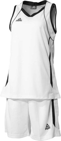 PEAK Basketball Uniform W dámská basketbalová souprava - white/black