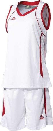 PEAK Basketball Uniform W dámská basketbalová souprava - white/red