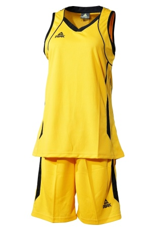 PEAK Basketball Uniform W dámská basketbalová souprava - yellow/black