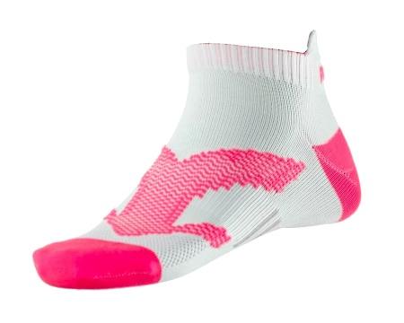 PEAK Run kotníkové ponožky - white/fluorescent red