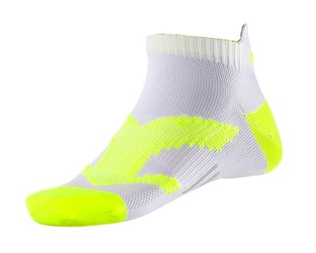 PEAK Run kotníkové ponožky - white/fluorescent yellow