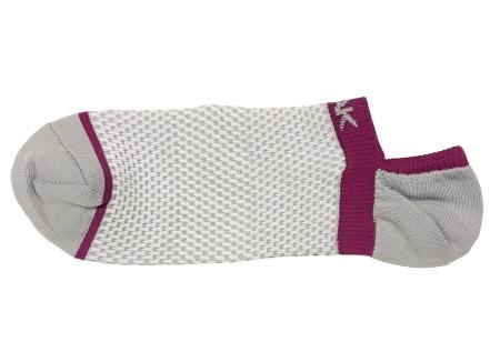PEAK nízké kotníkové ponožky - grey/purple