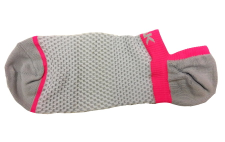 PEAK nízké kotníkové ponožky - grey/fluorescent red