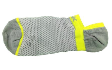 PEAK nízké kotníkové ponožky - grey/fluorescent yellow